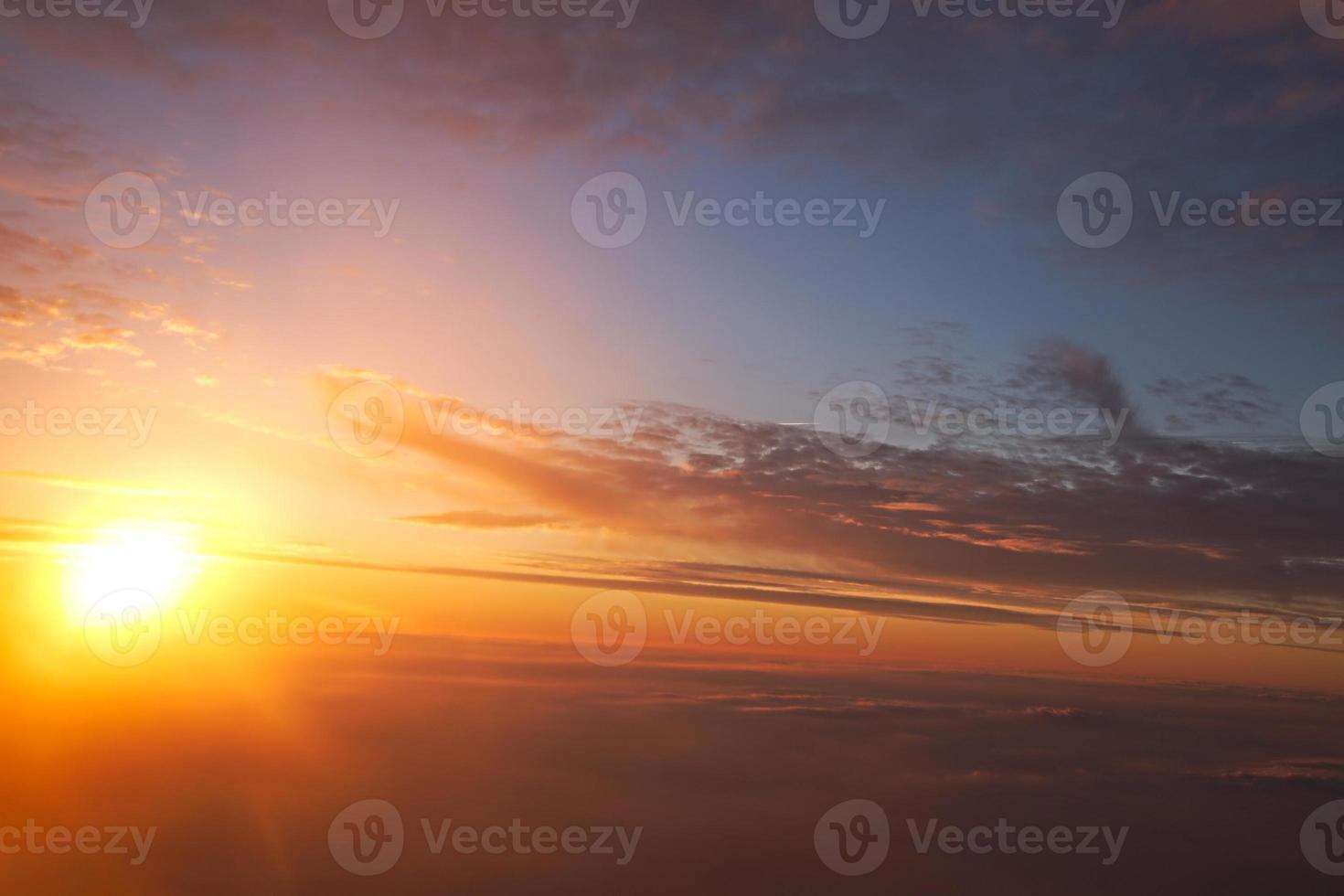 wolken uit de lucht foto