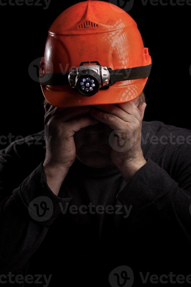 ontevreden mijnwerker foto