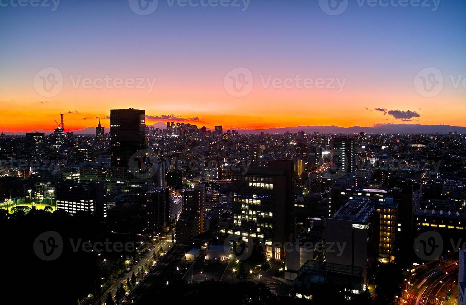 nacht uitzicht op tokyo foto