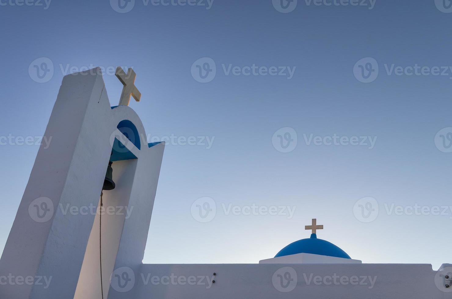 detail van een kerk in ano koufonisi eiland, Cycladen, Griekenland foto