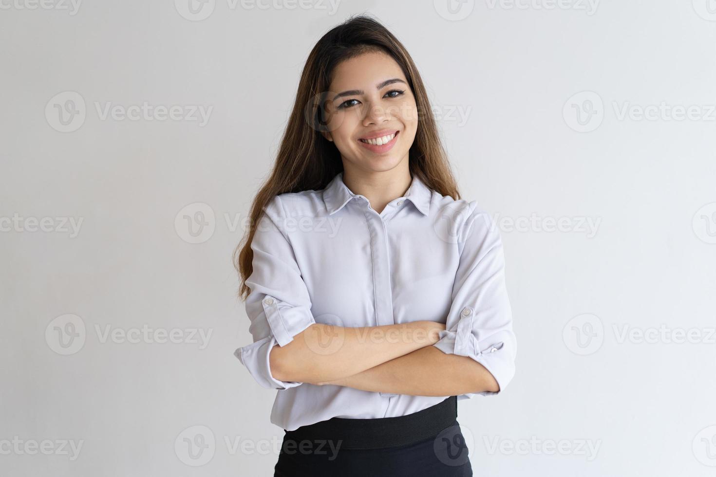 gelukkig succesvol jong managerportret foto