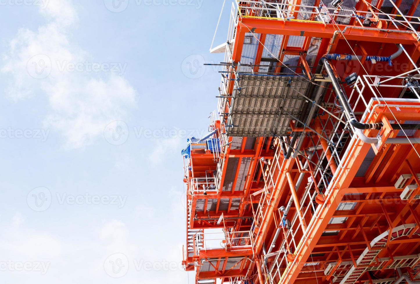 olie- en gasproductieplatform foto