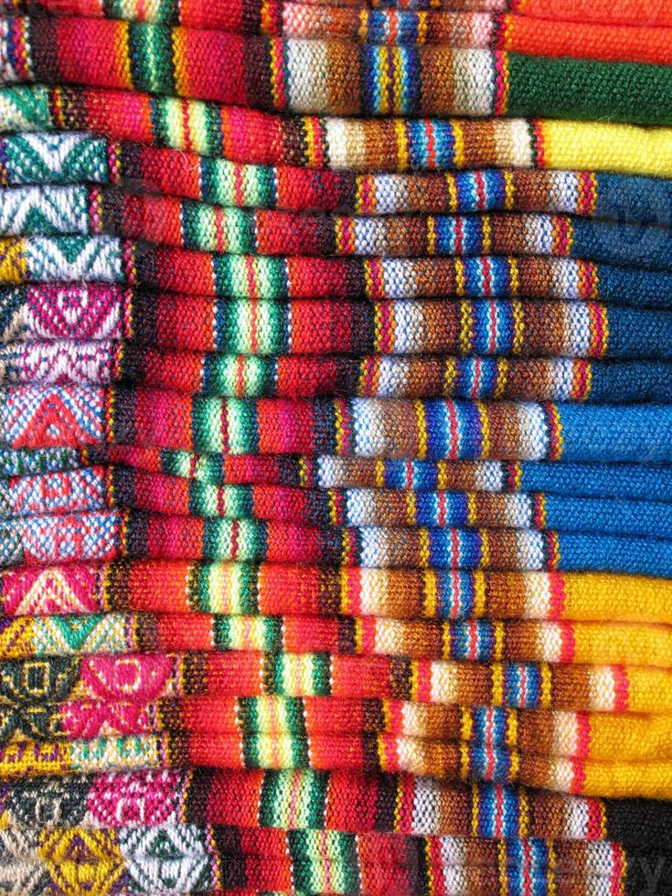 Zuid-Amerika Indiase geweven stoffen foto