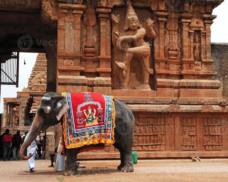 india zuid-india tanjore: brihadishvara tempel foto
