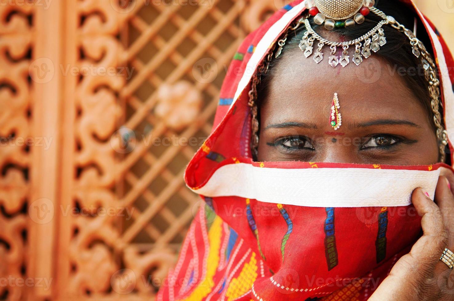 traditionele Indiase vrouw foto