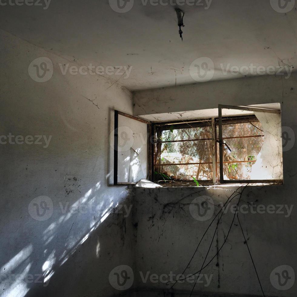reflectie in donkere kamer foto