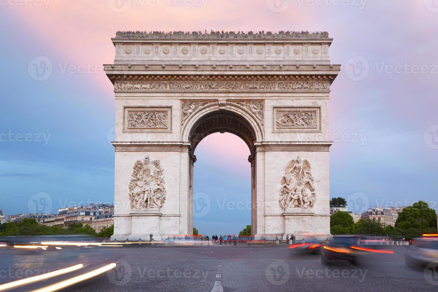 Arc de Triomphe in Parijs, Frankrijk foto