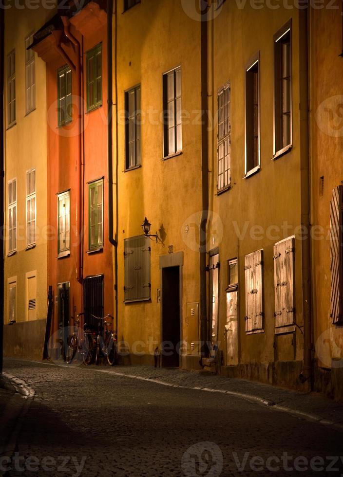 straat in stockholm foto