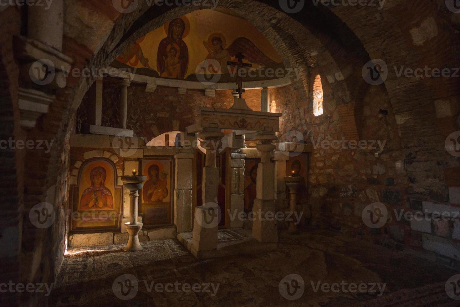 kerk in oude mantineia, arcadia, peloponnesos, griekenland foto