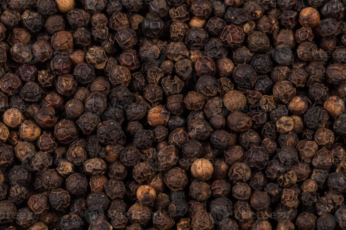 zwarte peper zoomde in foto