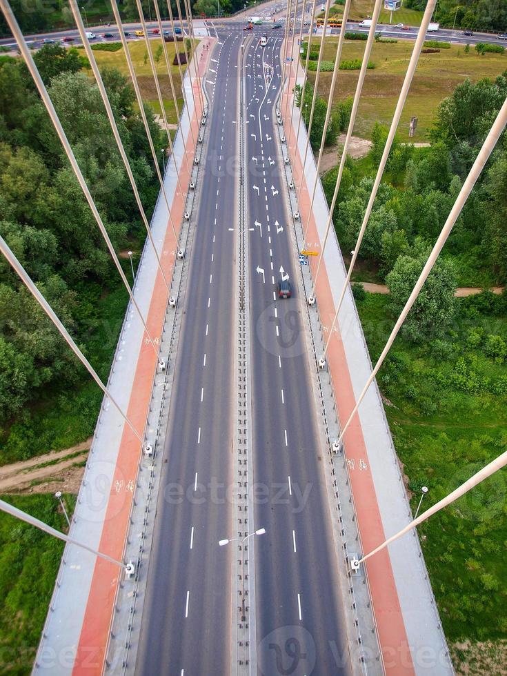swietokrzyski brug over wisla rivier in Warschau hoofdstad van polan foto