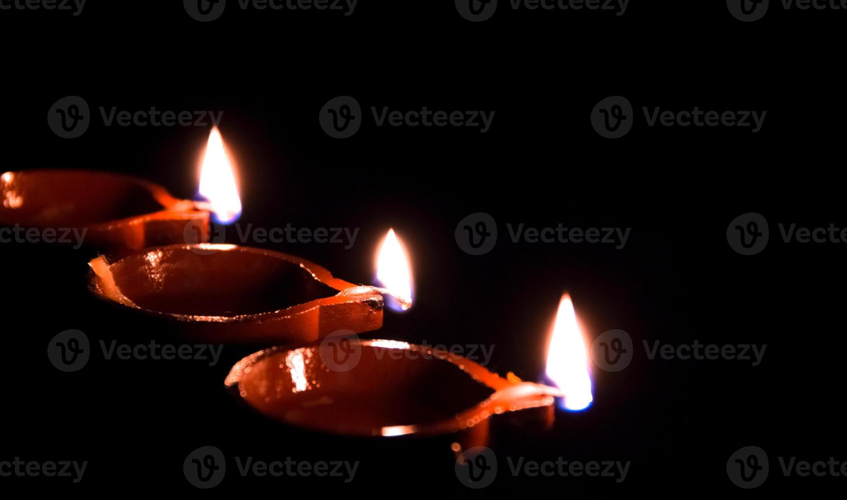 diwali diya in een lijn foto