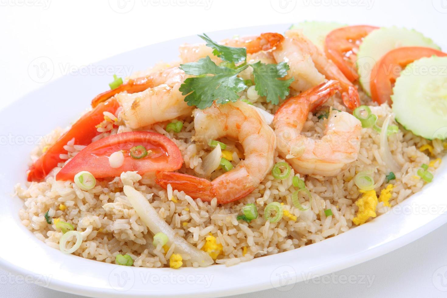 garnalen gebakken rijst foto