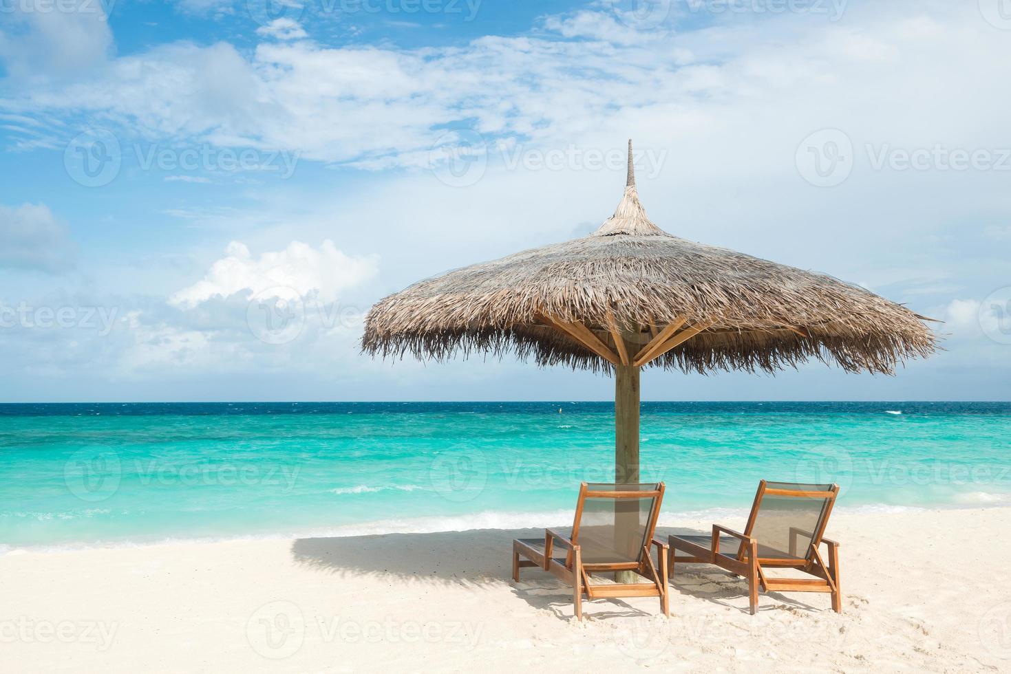 tropisch strand, Maldiven foto