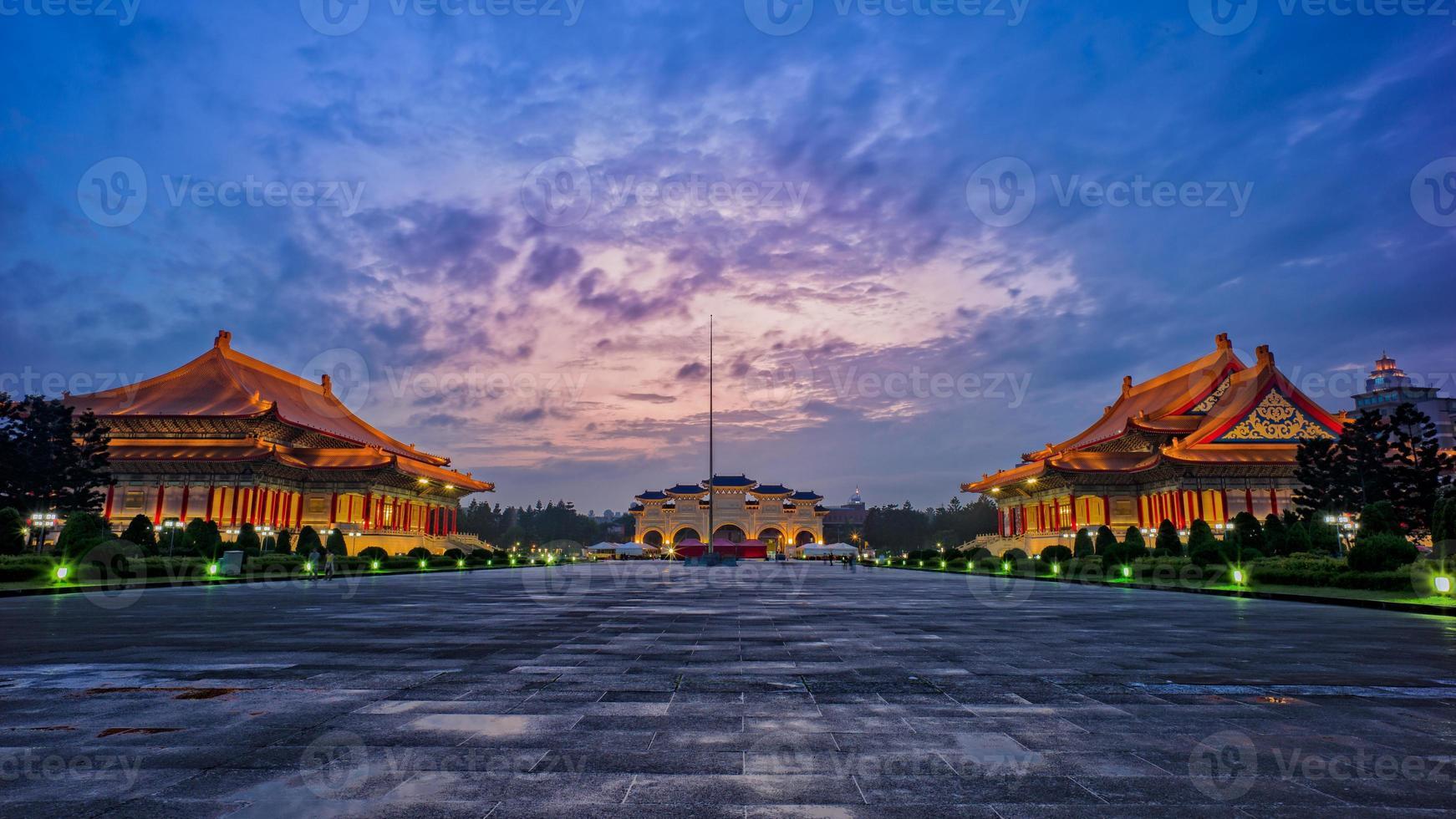 nachtscène van taipei foto