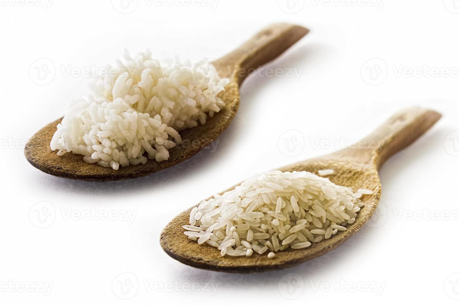 rijst voor en na foto