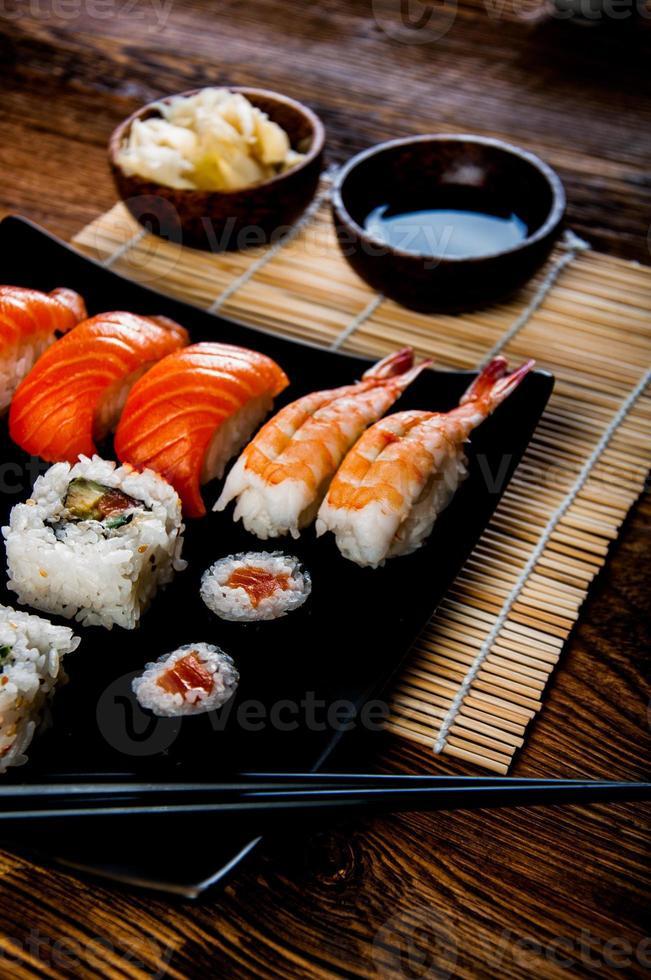 Japanse verse sushi set foto