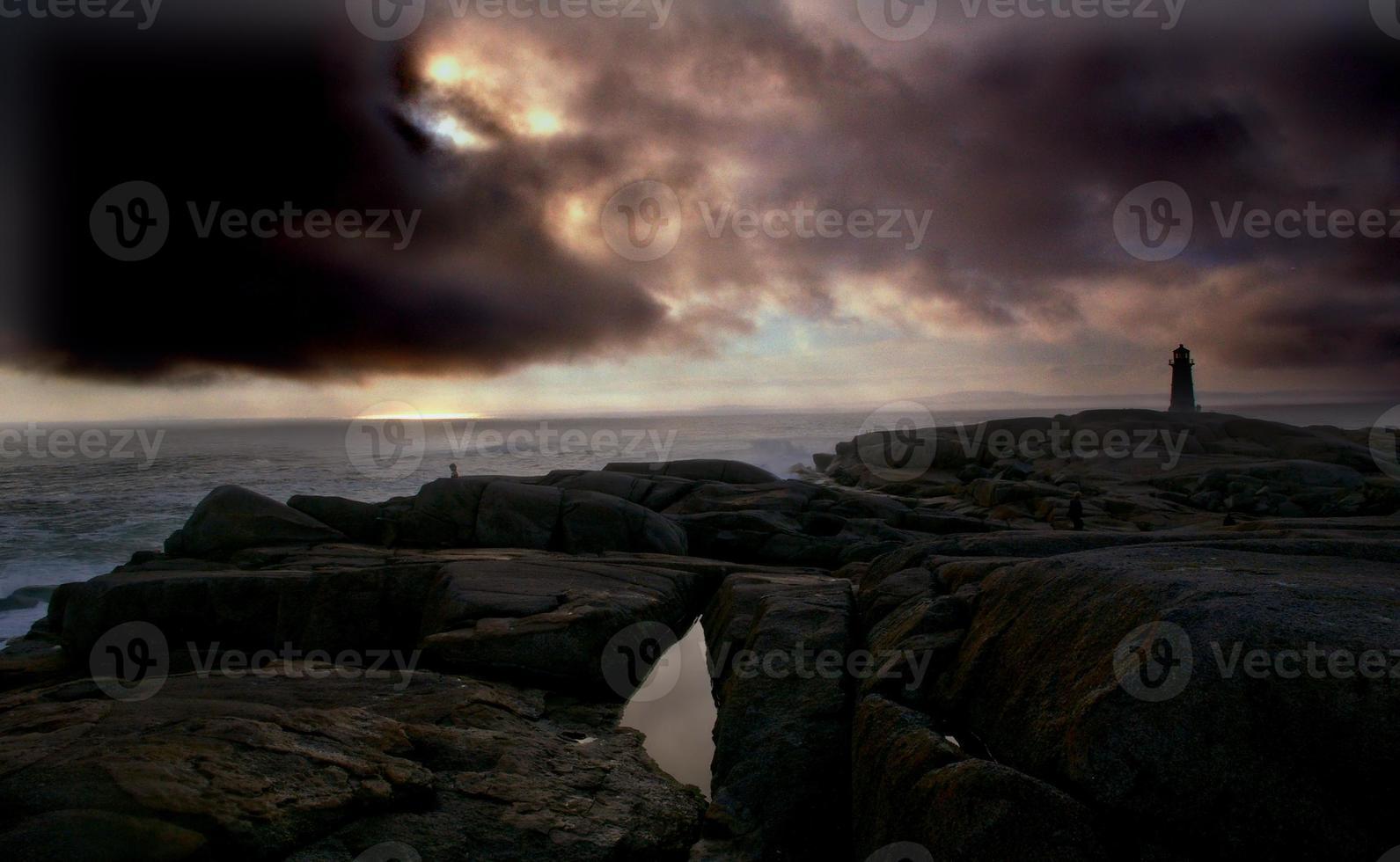 storm die de baai van een peggy brouwt foto