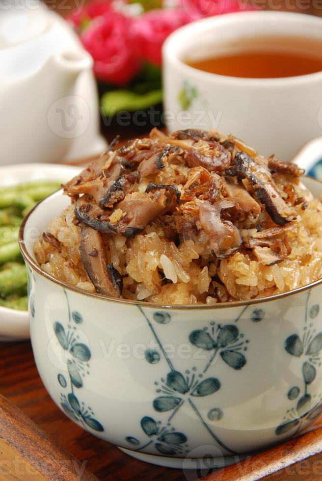 kleverige rijst foto