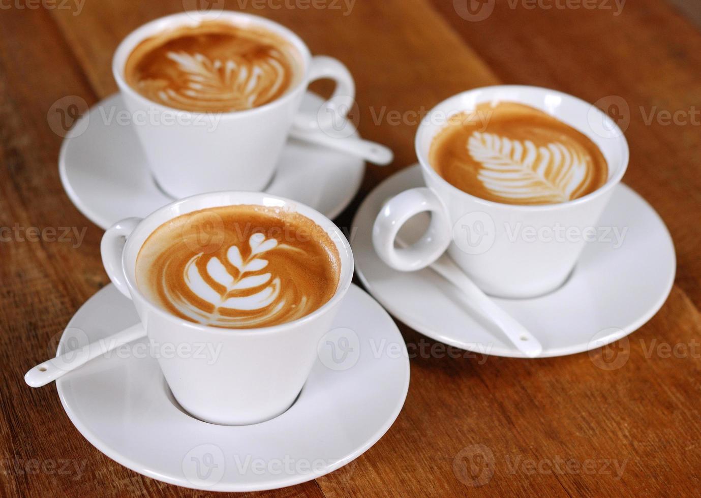 latte koffie foto