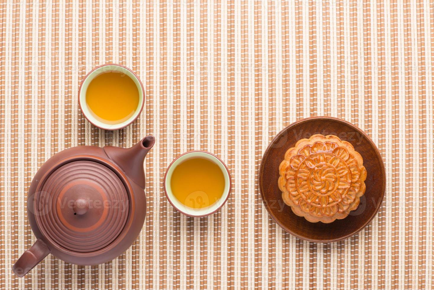 maancake en thee foto