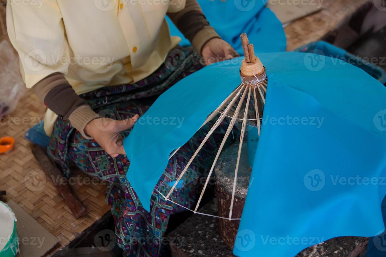 hoe het proces paraplu / kunstnijverheid te maken foto