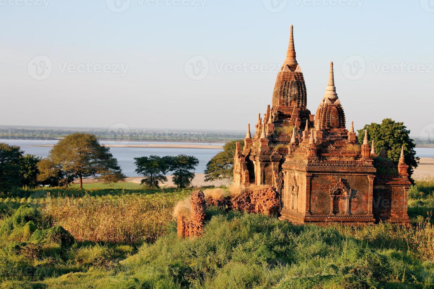 tempels in bagan foto