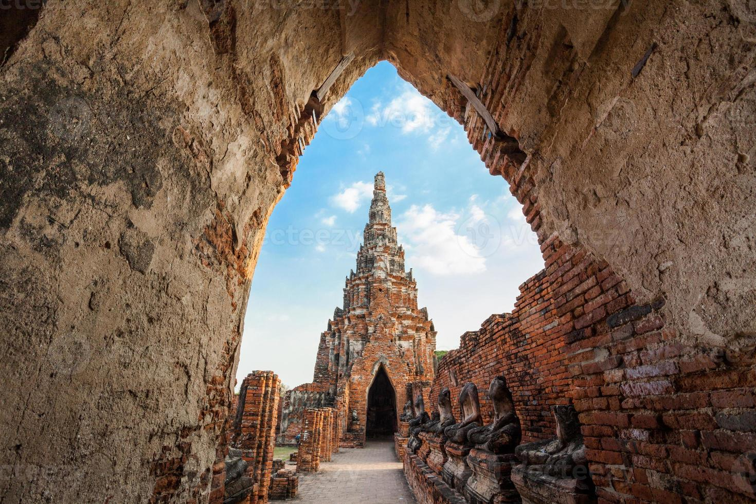pagode en stoepa tempel in de oude stad foto