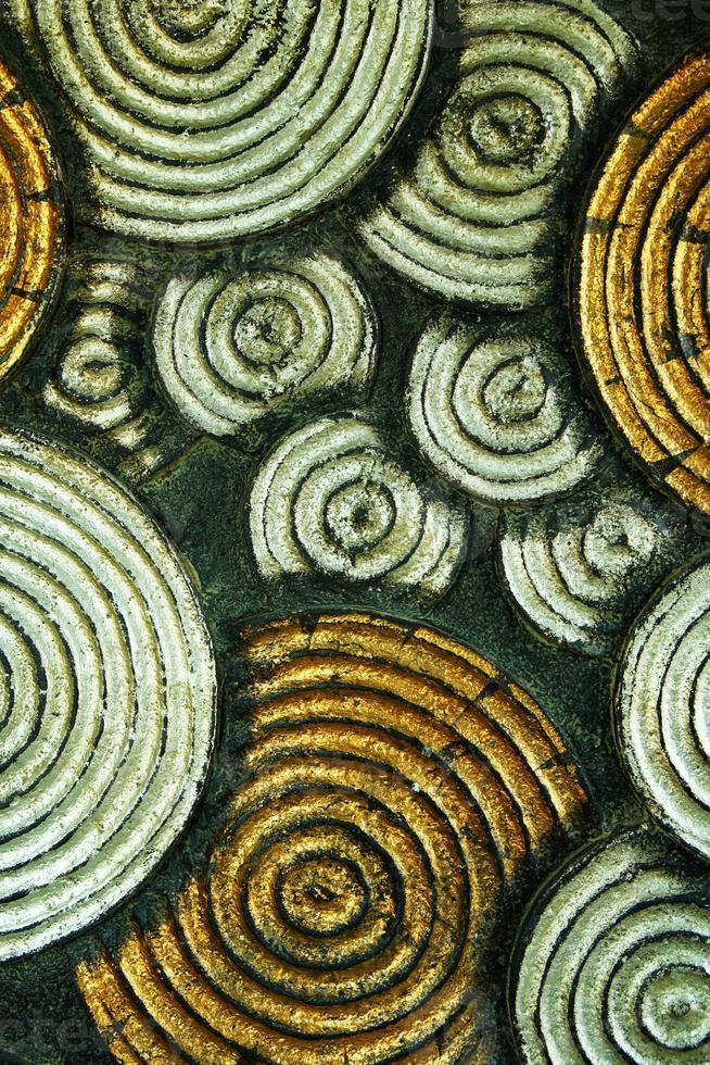 textuur Thaise kunststijl op de tempel muur foto