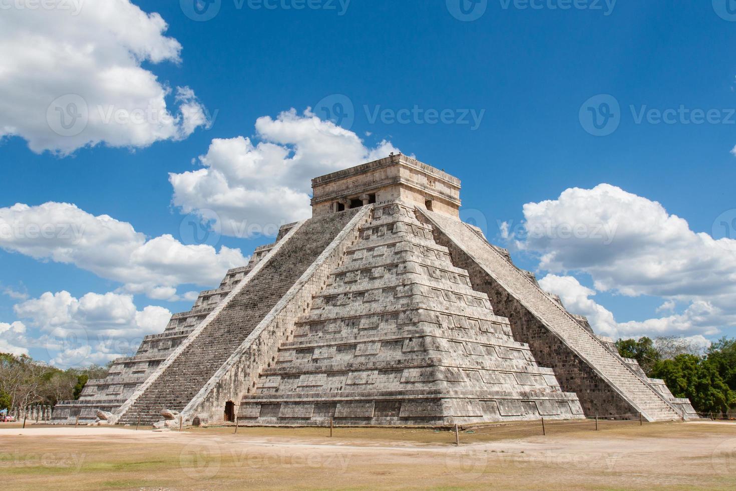 Maya-piramide in chitchen itza foto