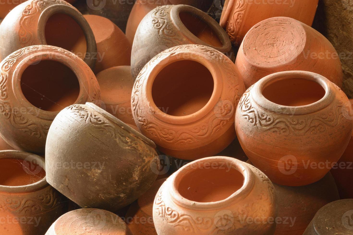 ambachtelijke aardewerk klei beker foto