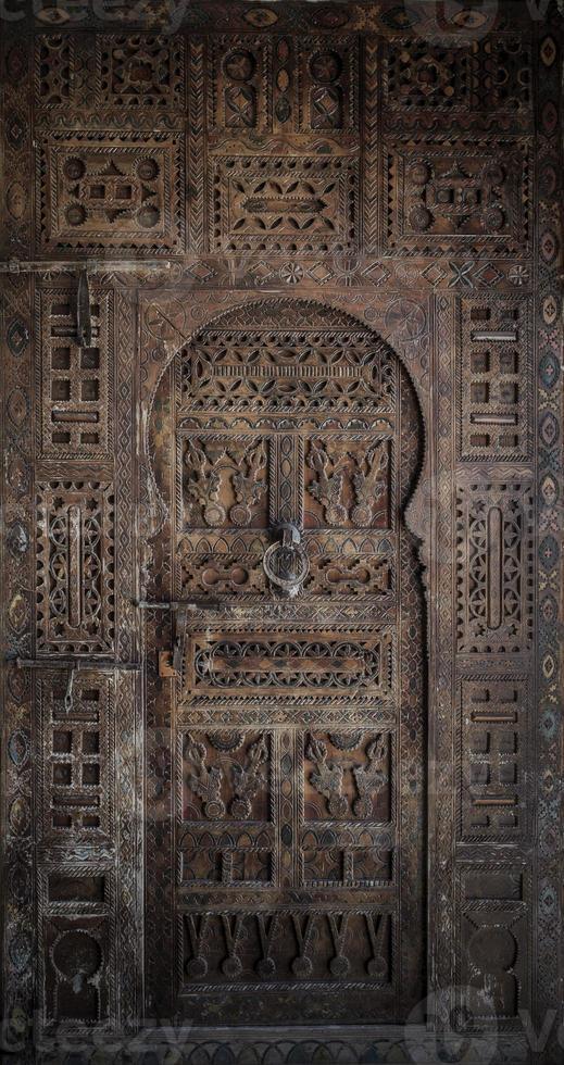 oude deuren, Marokko foto