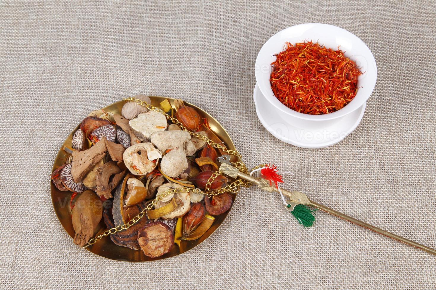 traditionele Chinese geneeskunde (tcm), close-up foto