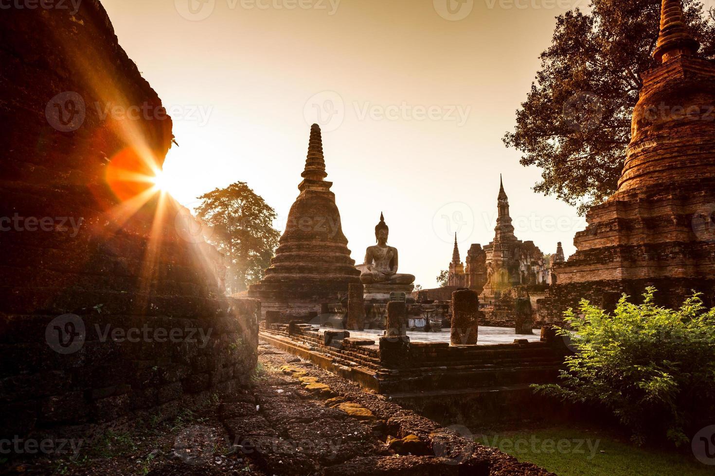 Sukhothai historisch park, Thailand foto