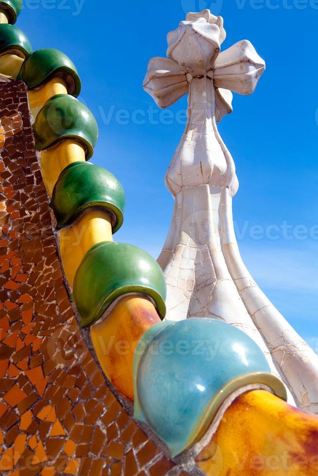 dakarchitectuur bij casa batllo foto
