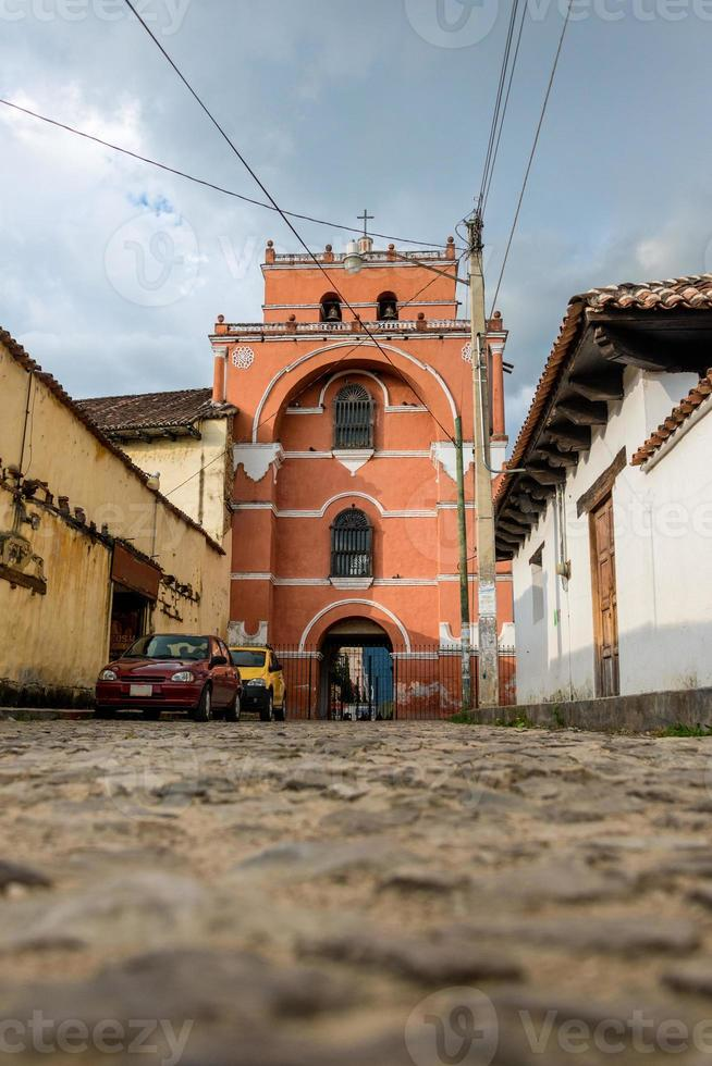 kerk steegje op San Cristobal de las Casas. chiapas. foto