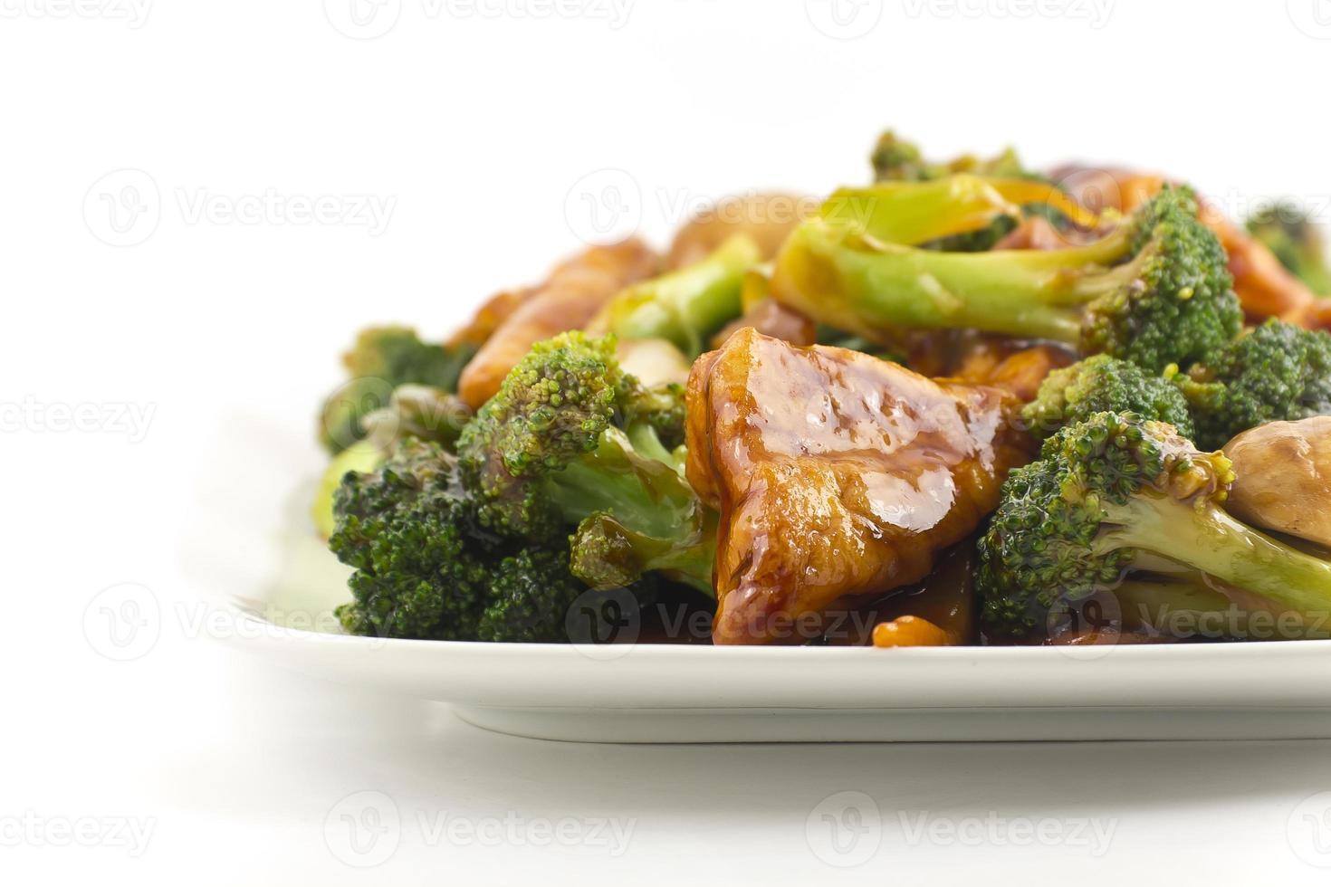gebakken gemengde Chinese groenten met tofu foto