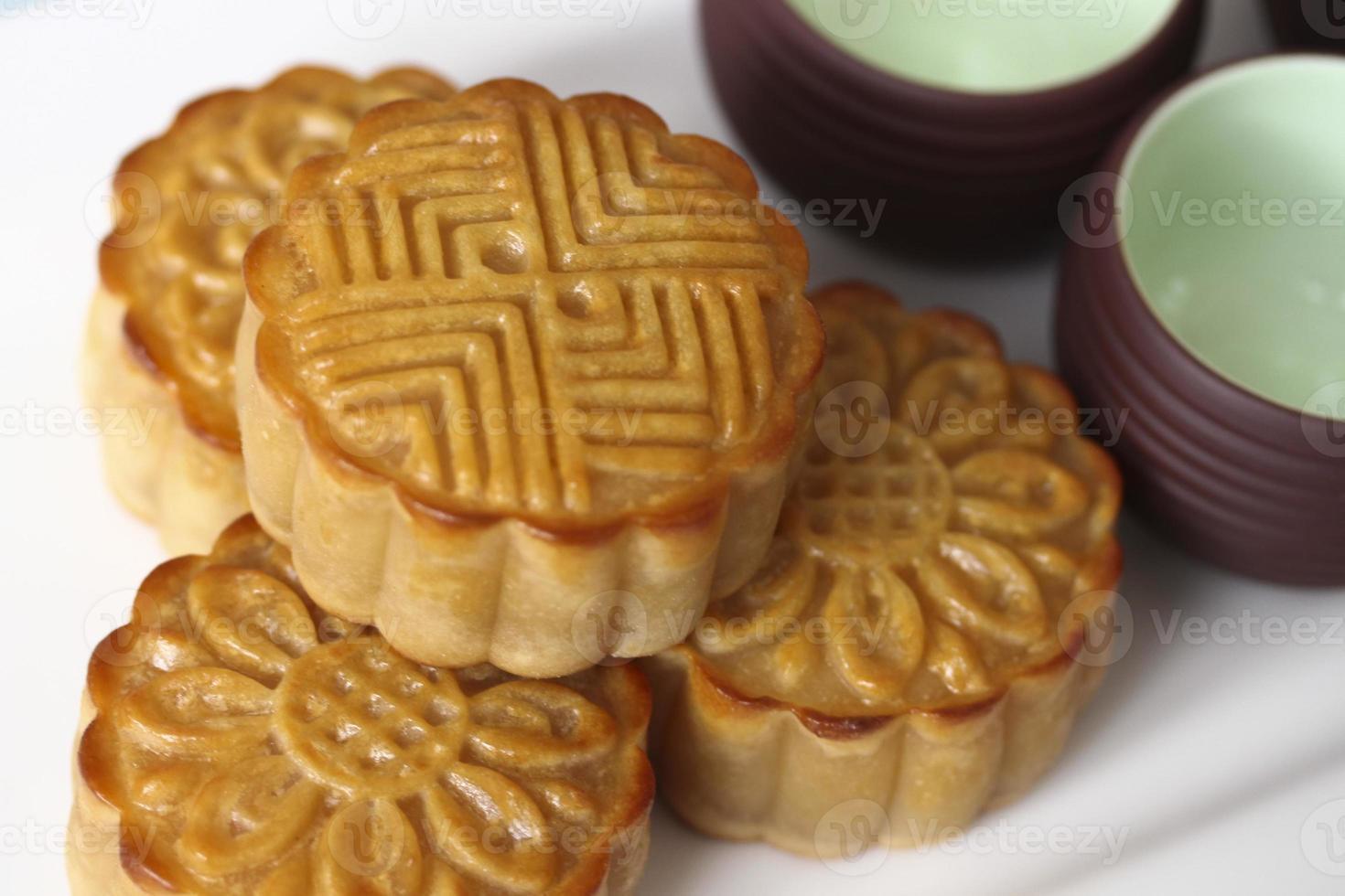 Vietnamese traditionele maancakes foto