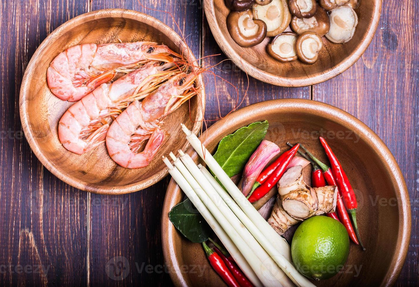 set voor het maken van soep tom yam foto