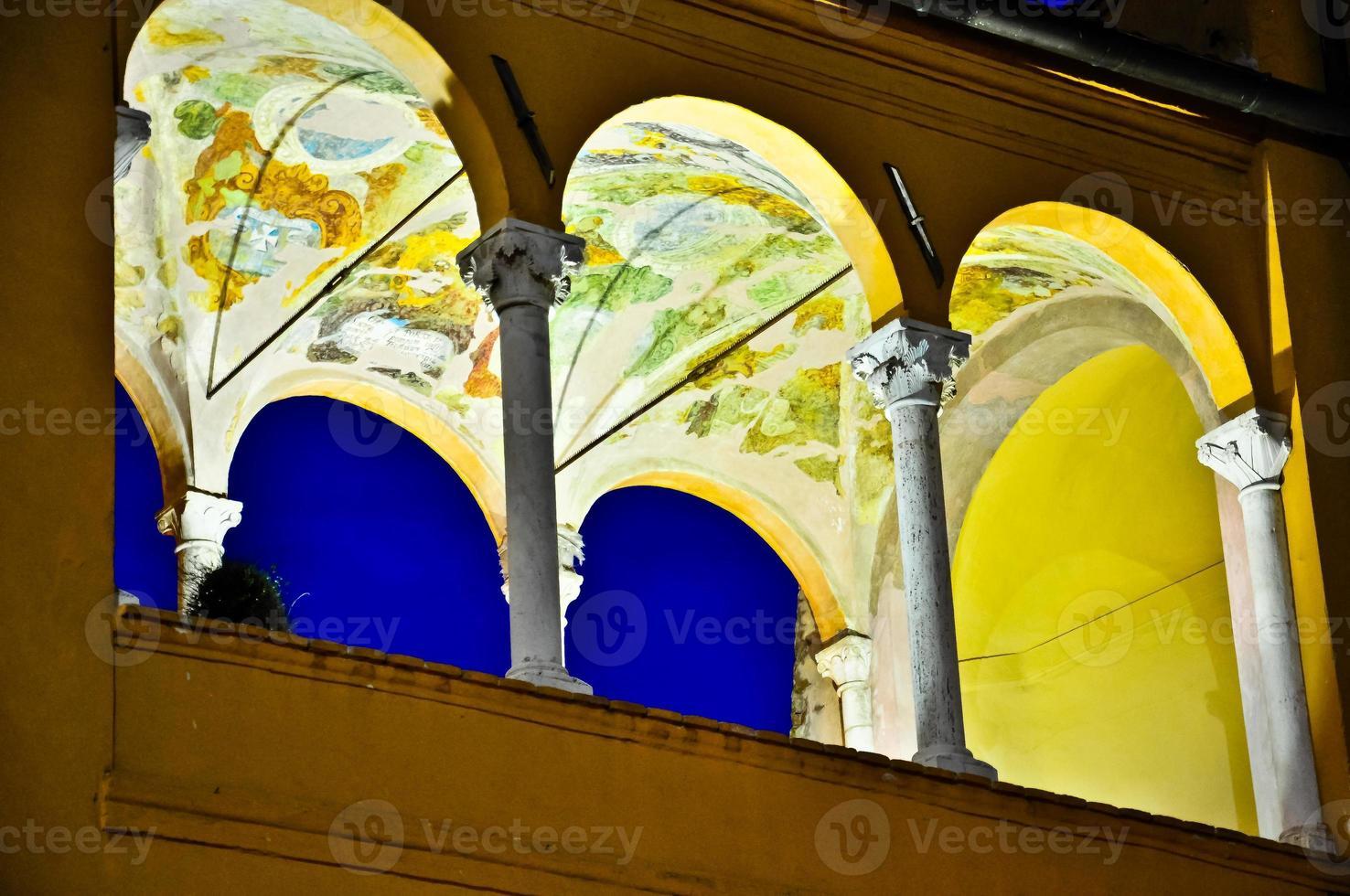 Piazza del Popolo, Fermo, Italië. foto