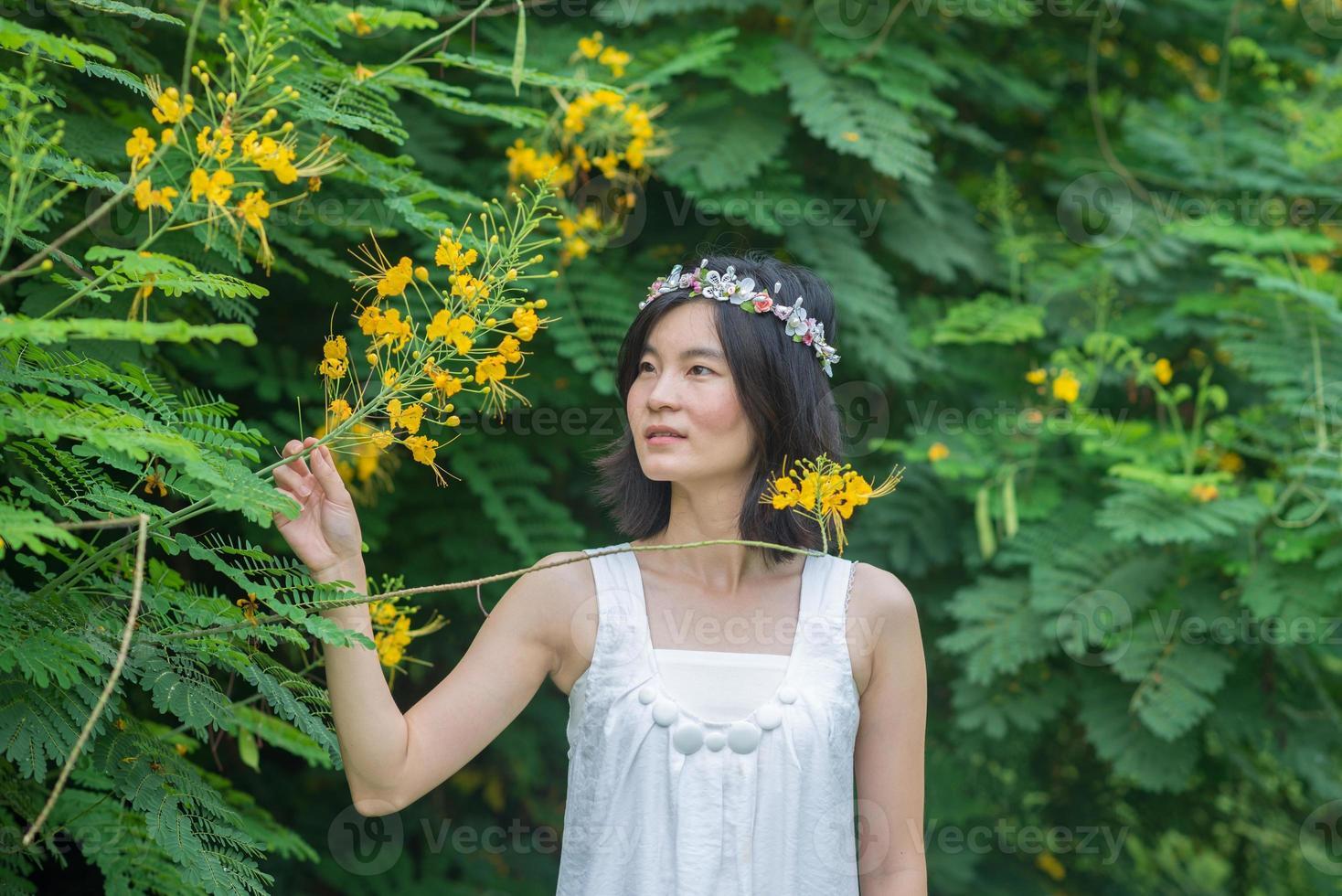 de mooie Aziatische kroon van de vrouwenbloem in tuin Thailand foto