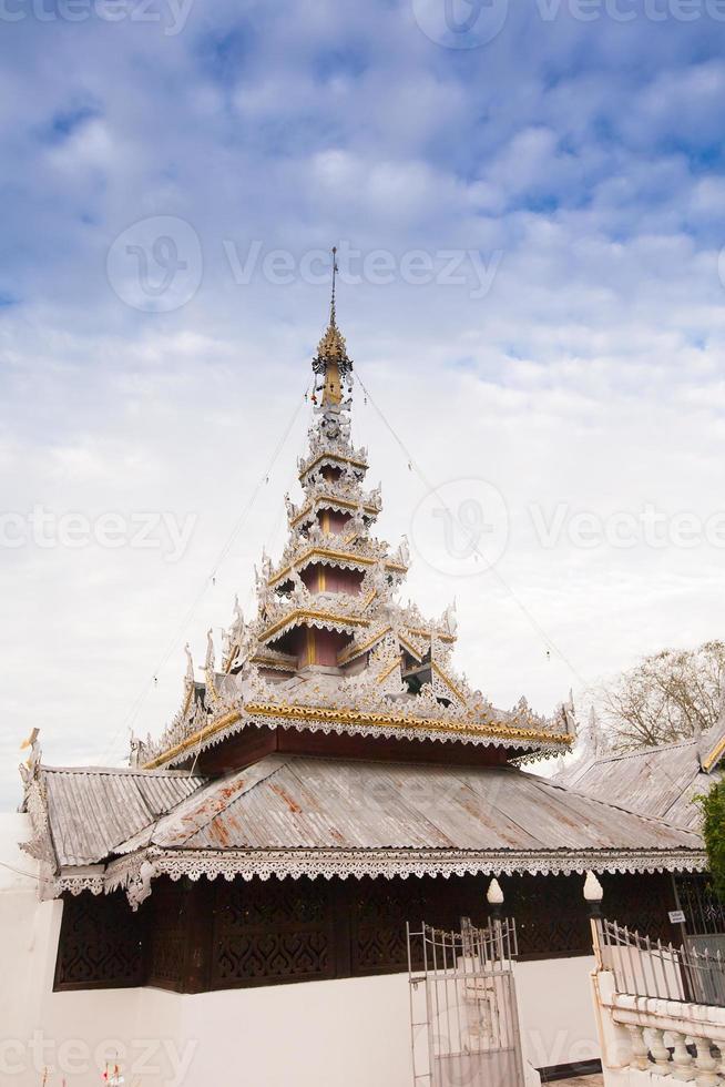 tempel in mae hon lied, thailand foto