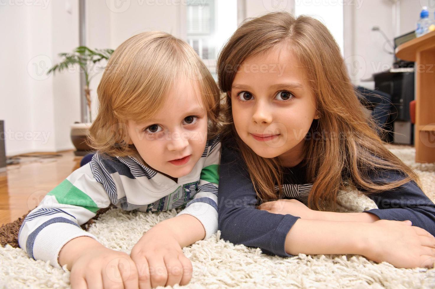 comfortabele kinderen foto
