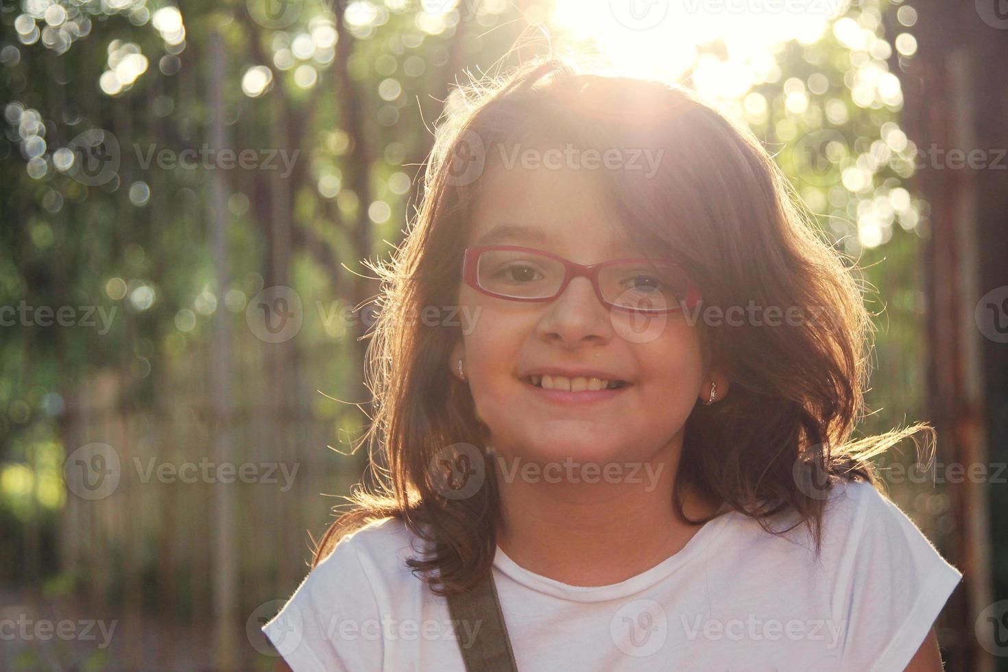 meisje in de natuur foto