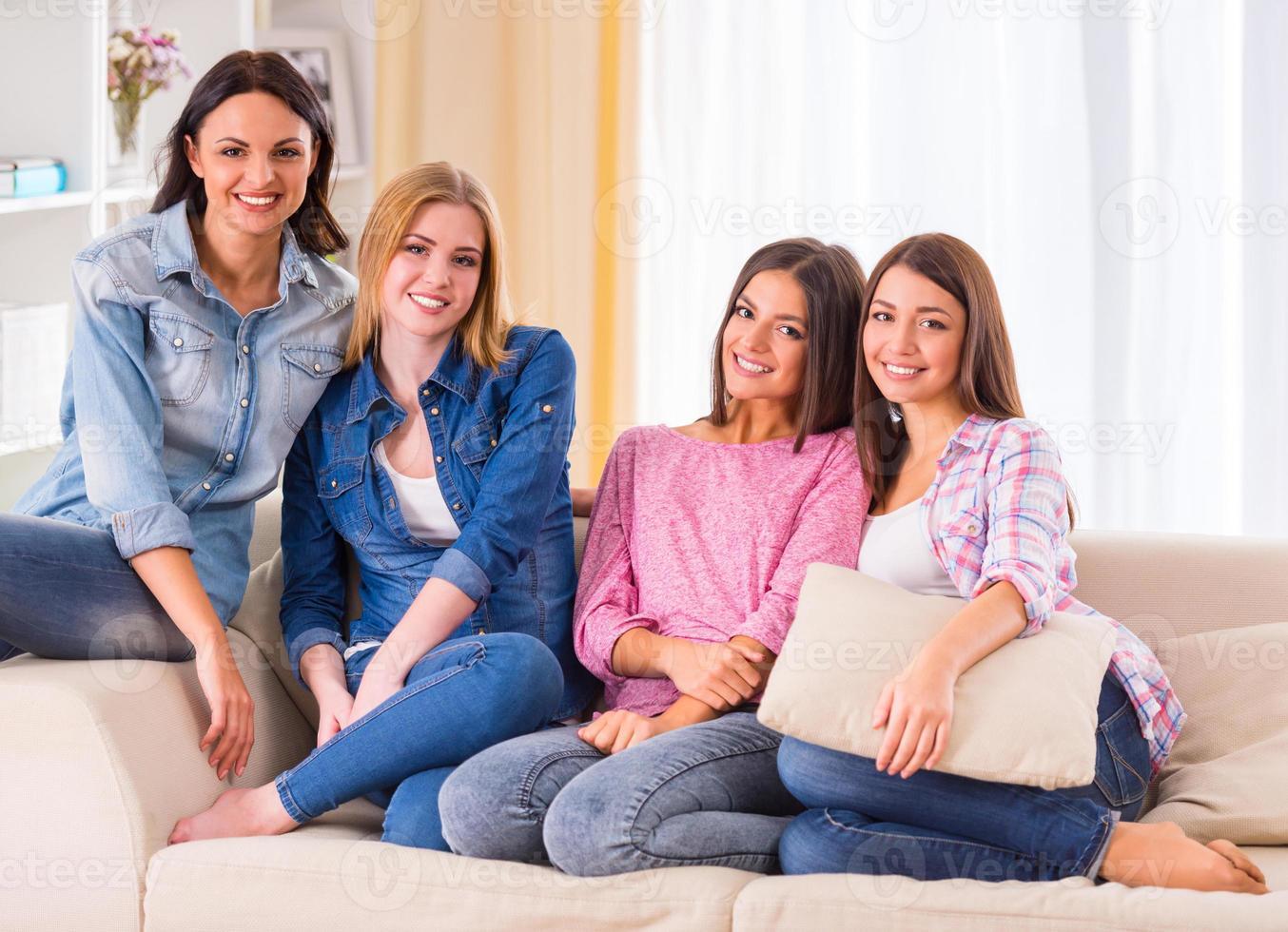 groep meisjes foto
