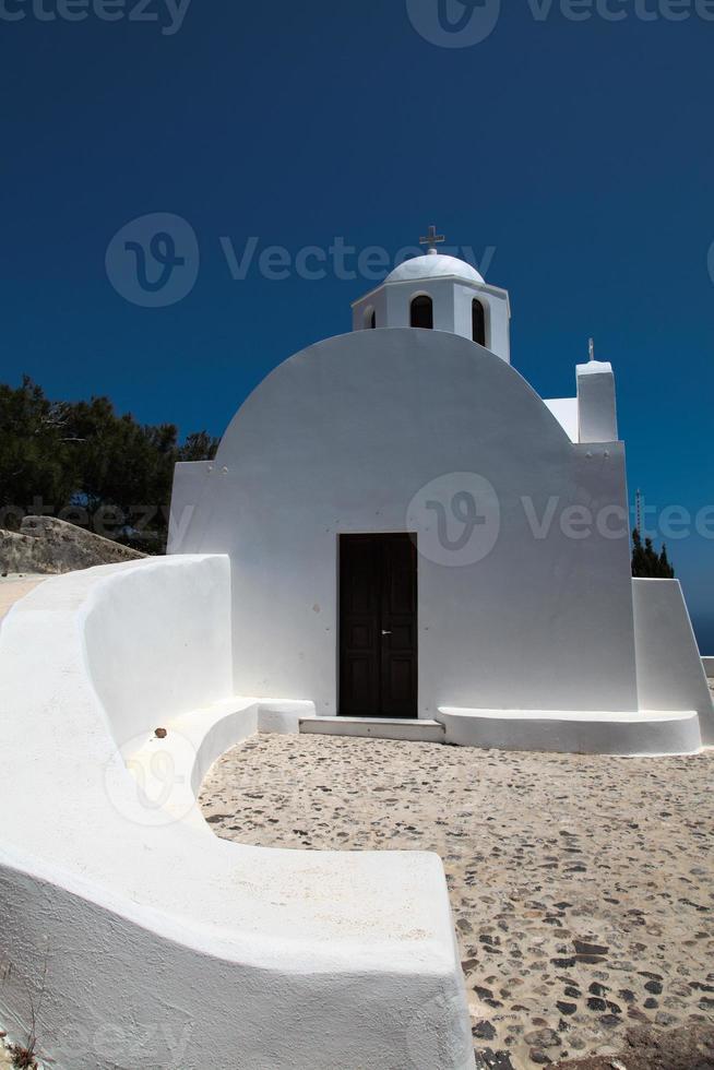 kapel op het eiland Santorini foto