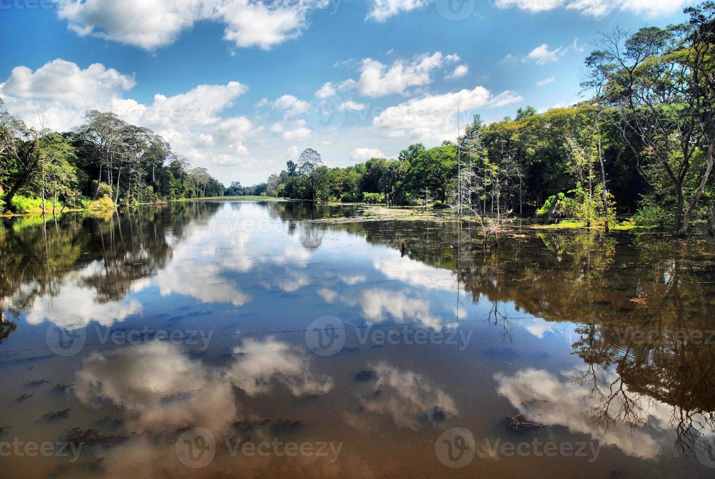 rivier in Cambodja / siem oogst foto