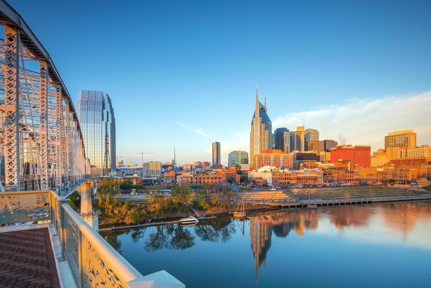 Nashville Tennessee skyline van het centrum foto
