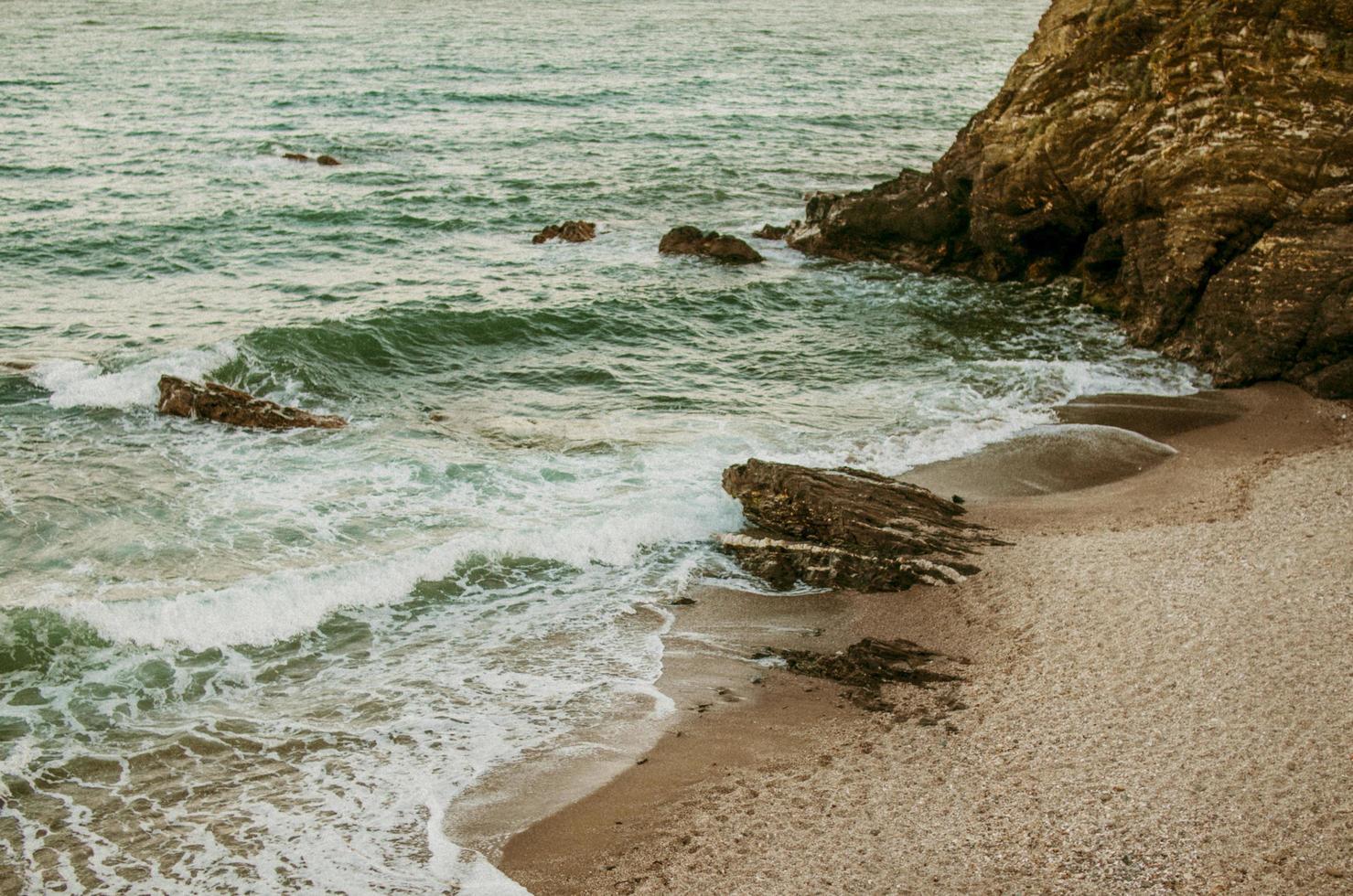 luchtfoto van kust foto