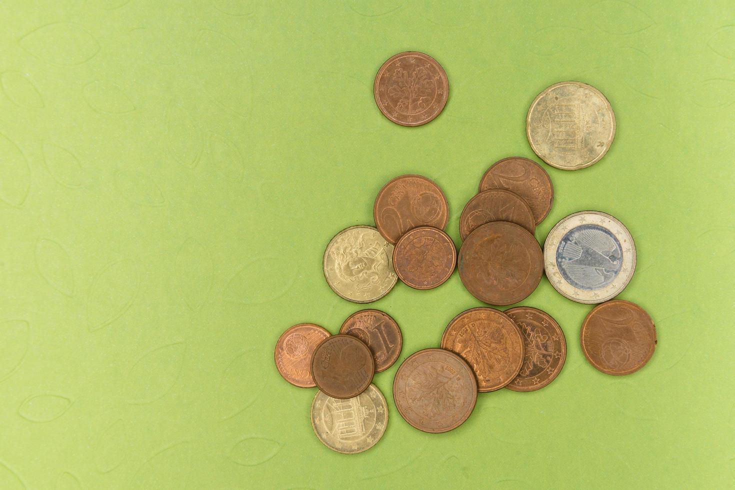 verschillende euromunten foto
